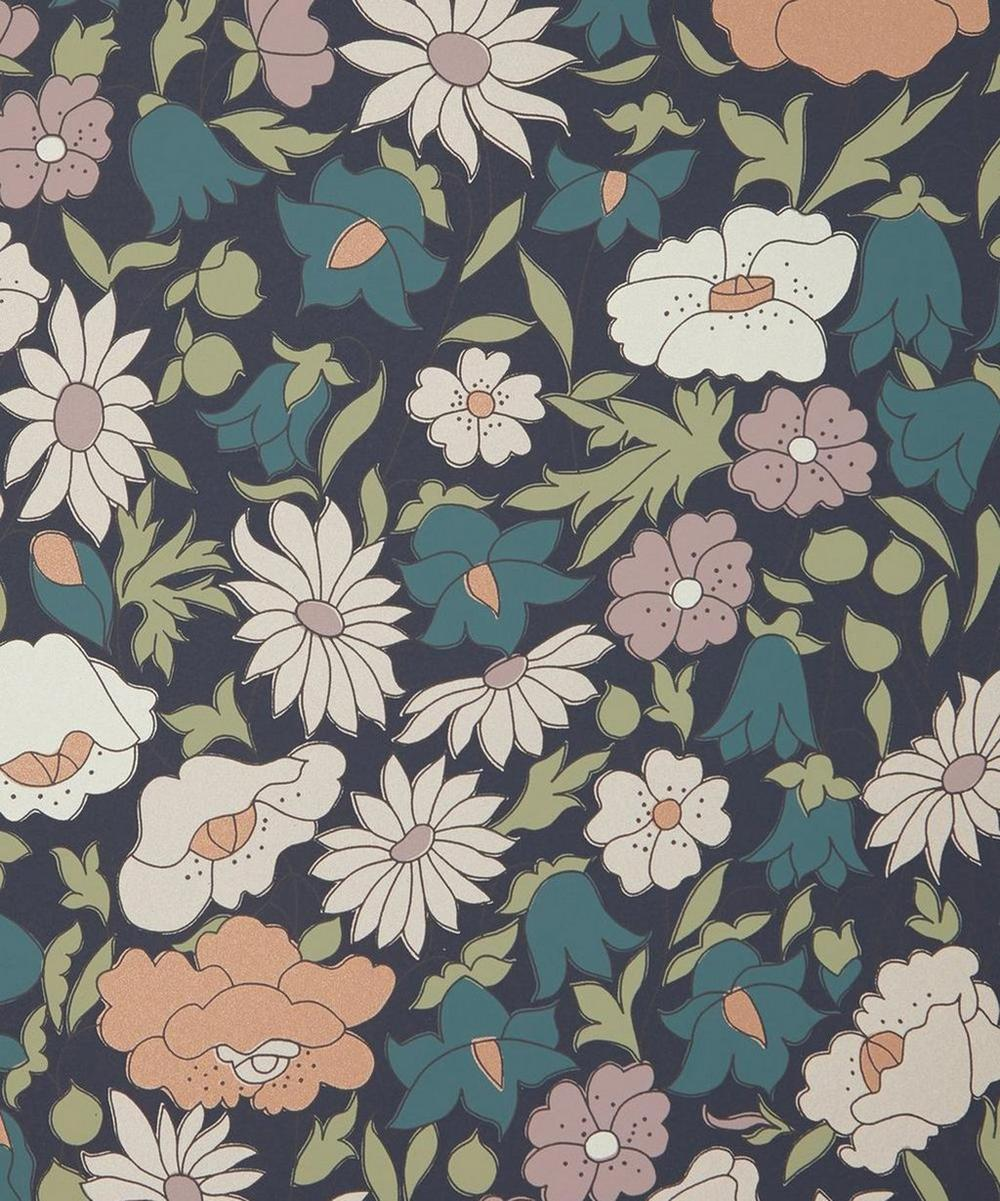 Liberty Interiors - Poppy Meadowfield Wallpaper in Pewter Blue