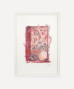 Plan For A Garden Red Tulips Original Framed Artwork