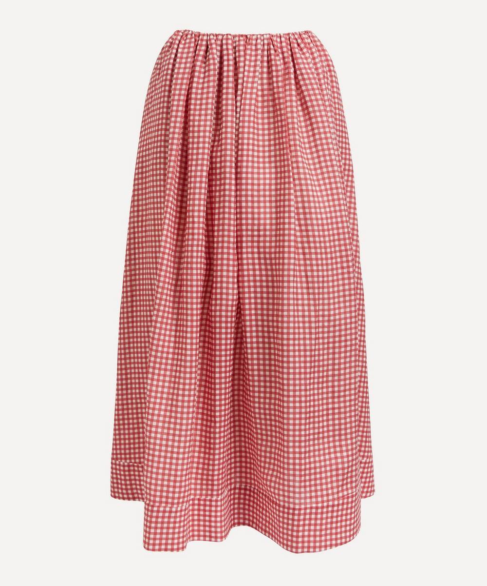 Bernadette - George Gingham Linen Skirt