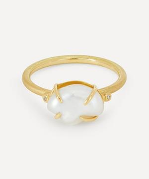 Gold Pearl Cloud Ring