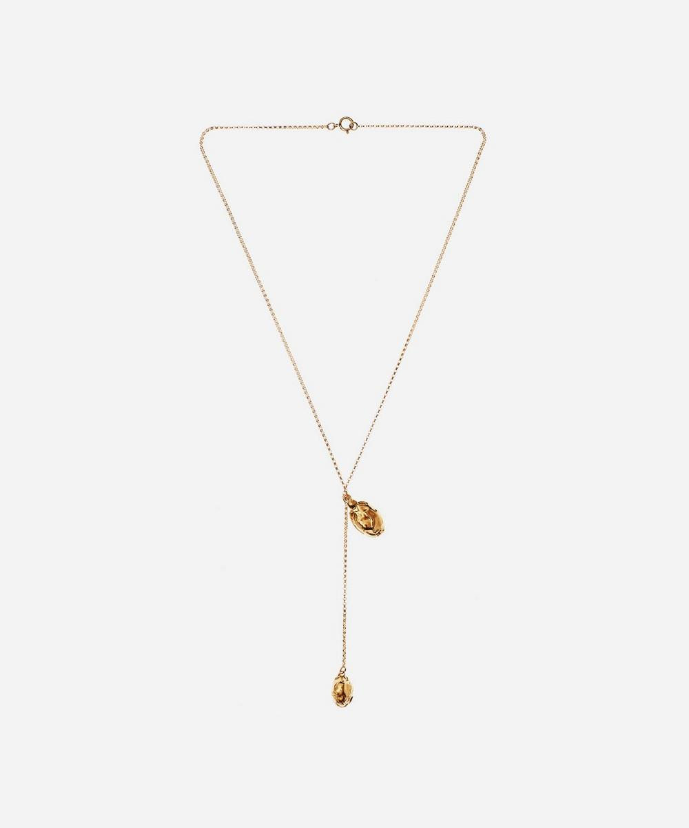Alighieri - Gold-Plated Lunar Rocks Drop Pendant Necklace