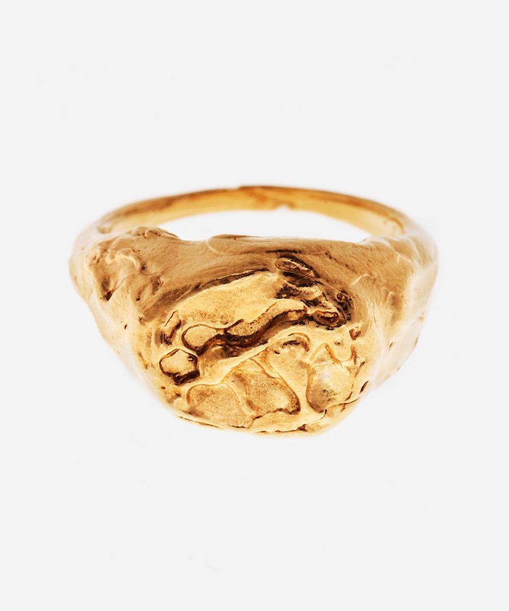 Alighieri - Gold-Plated The Taurus Signet Ring