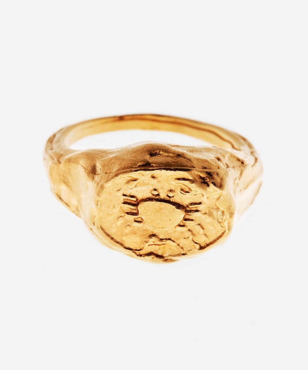 Alighieri - Gold-Plated The Cancer Signet Ring