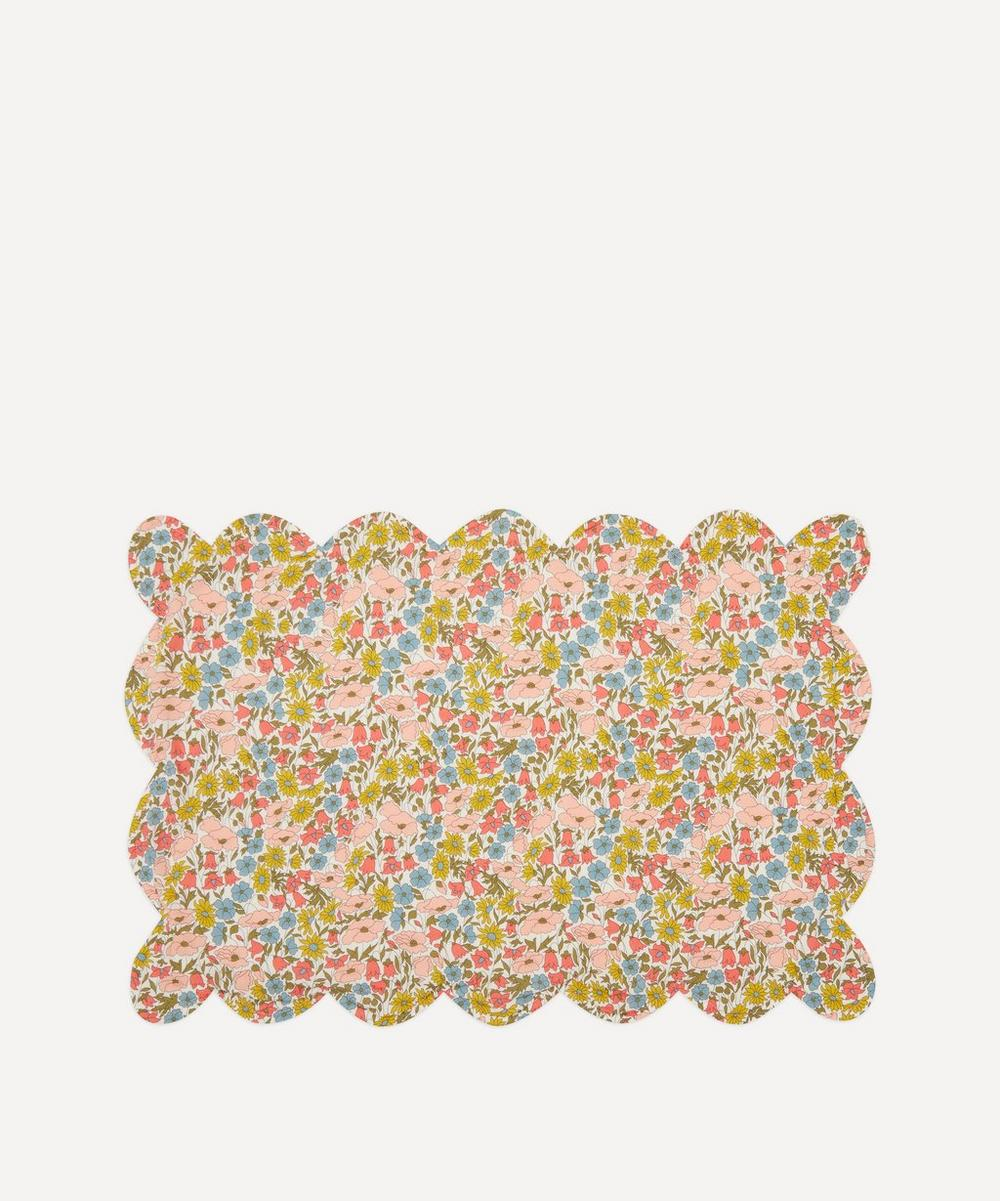 Coco & Wolf - Poppy and Daisy, and Betsy Coral Scallop Placemat