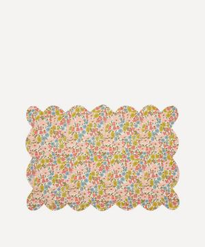 Poppy and Daisy, and Betsy Coral Scallop Placemat