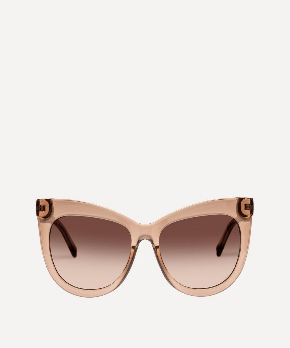Le Specs - Hidden Treasure Oversized Cat-Eye Sunglasses