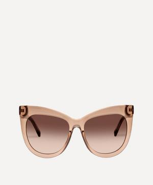 Hidden Treasure Oversized Cat-Eye Sunglasses