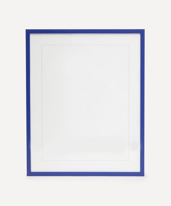 PLTY - Blue Solid Oak Wood Frame 40x50