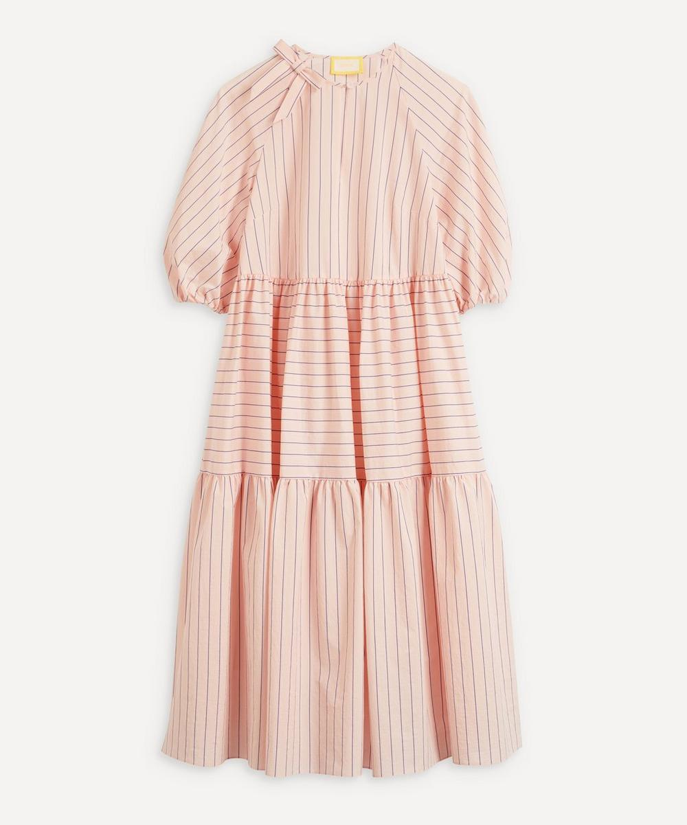 Erdem - Vacation Postiano Stripe Tiered Midi-Dress