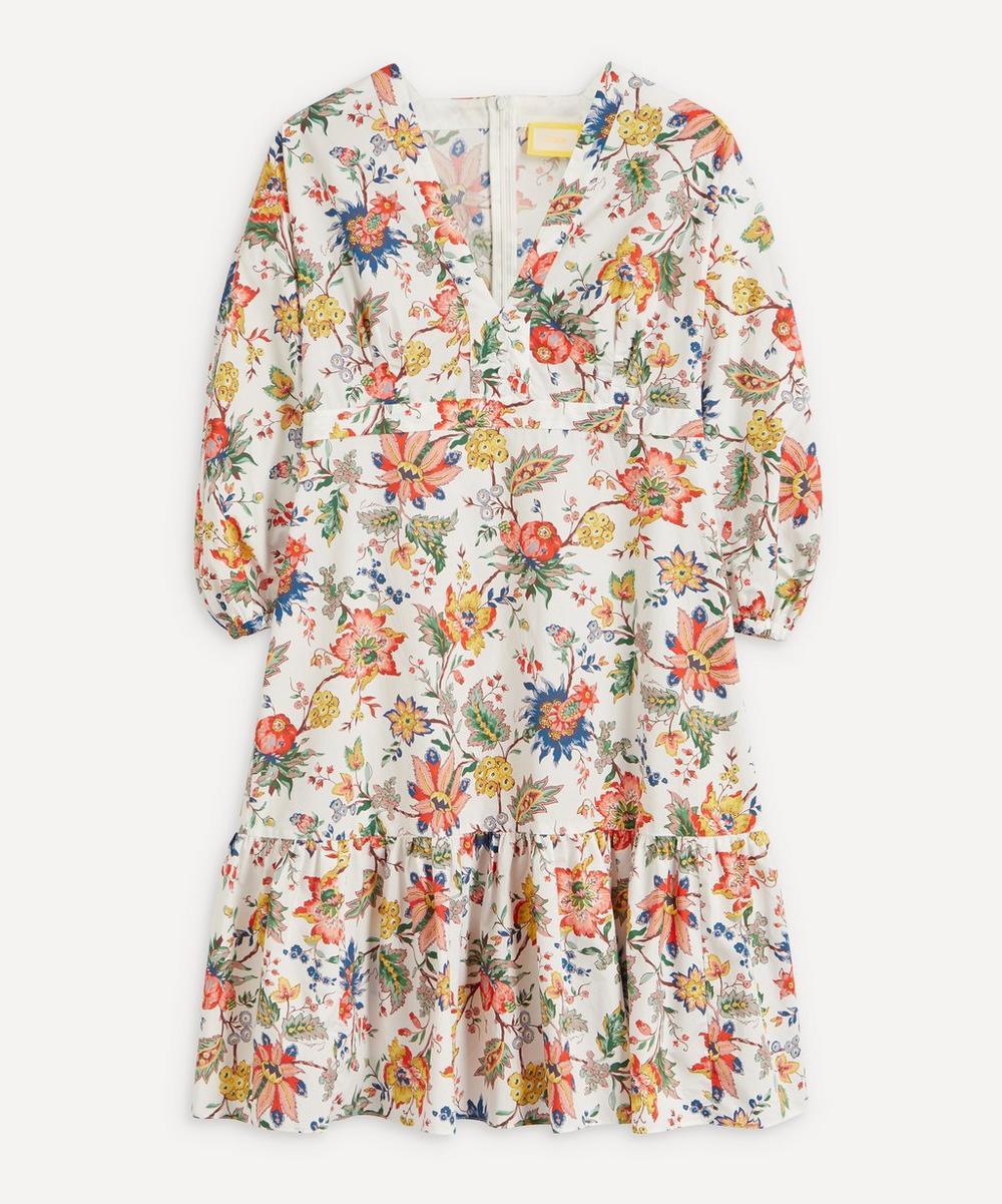 Erdem - Vacation Formentera Ruffle-Hem Mini-Dress