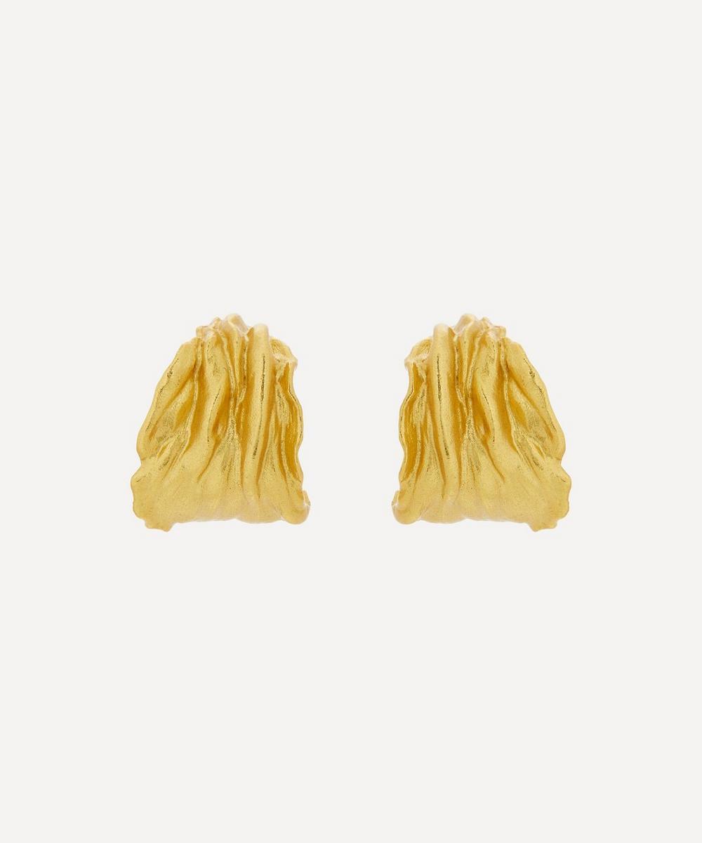 ANNI LU - Gold-Plated Ripcurl Hoop Earrings