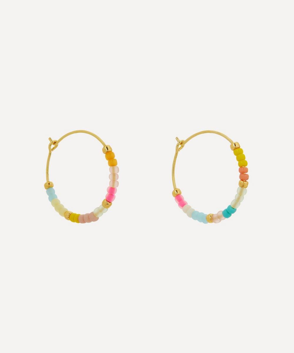 ANNI LU - Gold-Plated Candy Eldorado Beaded Hoop Earrings