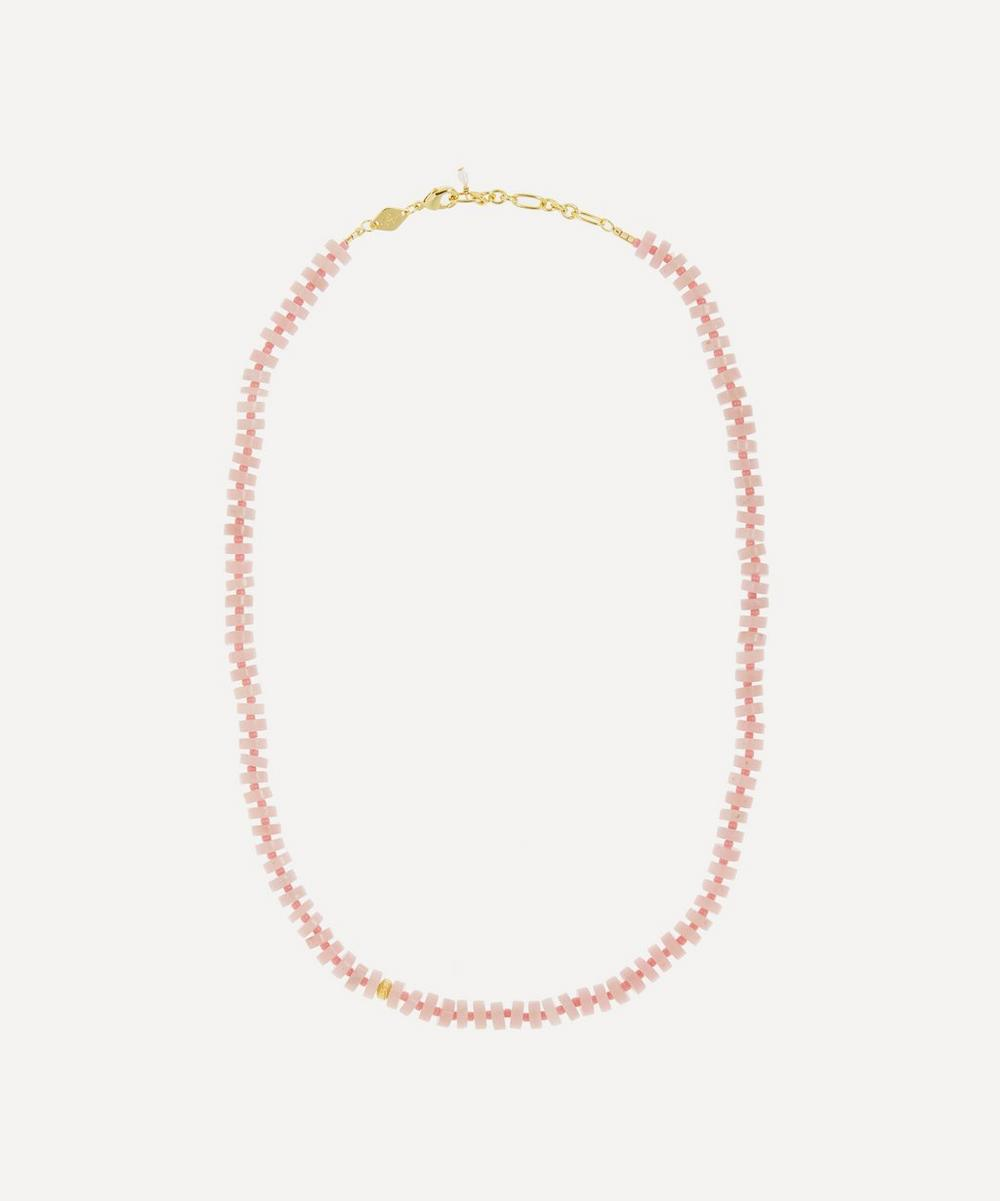 ANNI LU - Gold-Plated The Big Pink Beaded Necklace