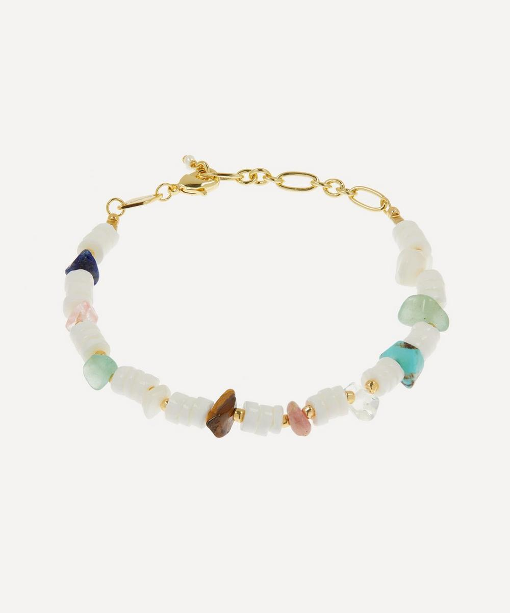 ANNI LU - Gold-Plated Biarritz Beaded Bracelet