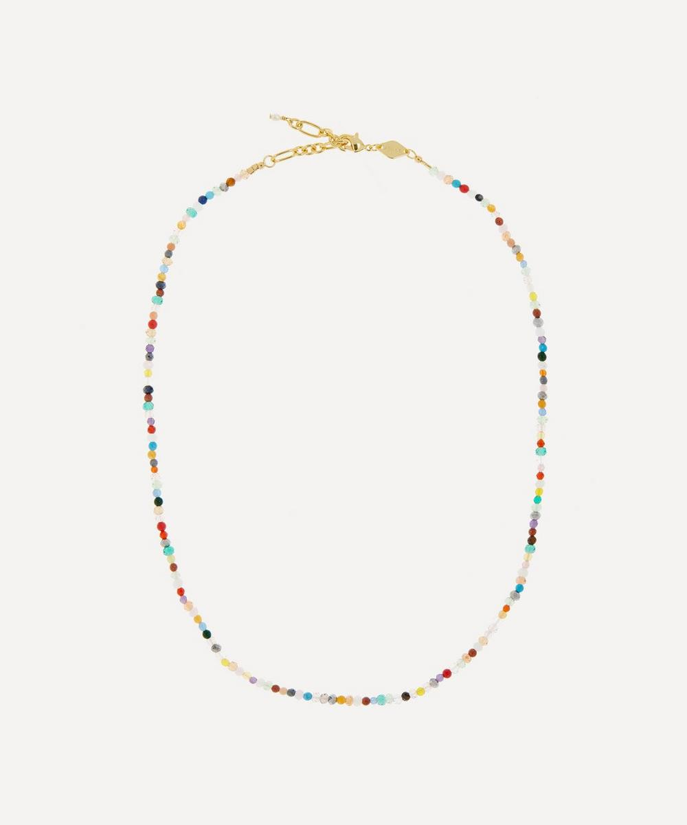ANNI LU - Gold-Plated Twinkle Twinkle Beaded Necklace