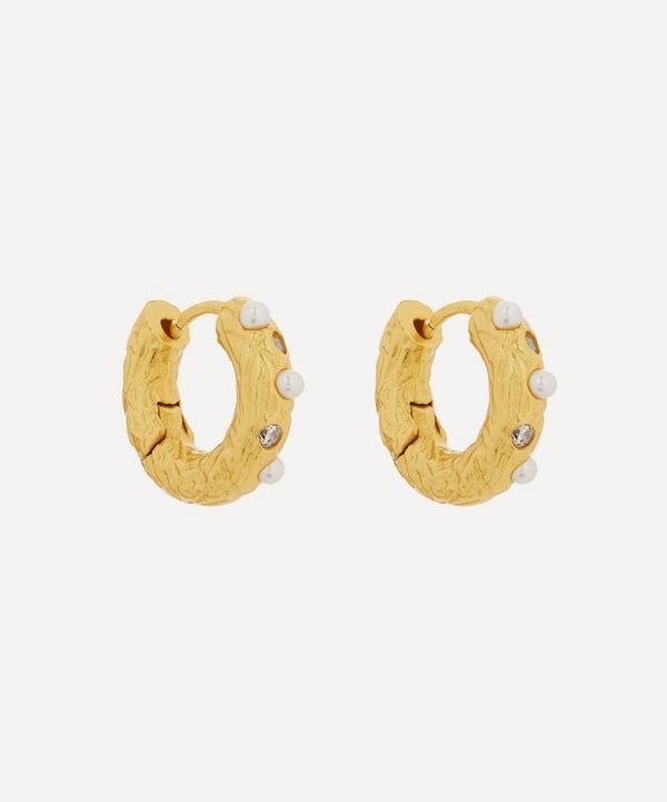 ANNI LU - Gold-Plated Gem in a Hoop Earrings
