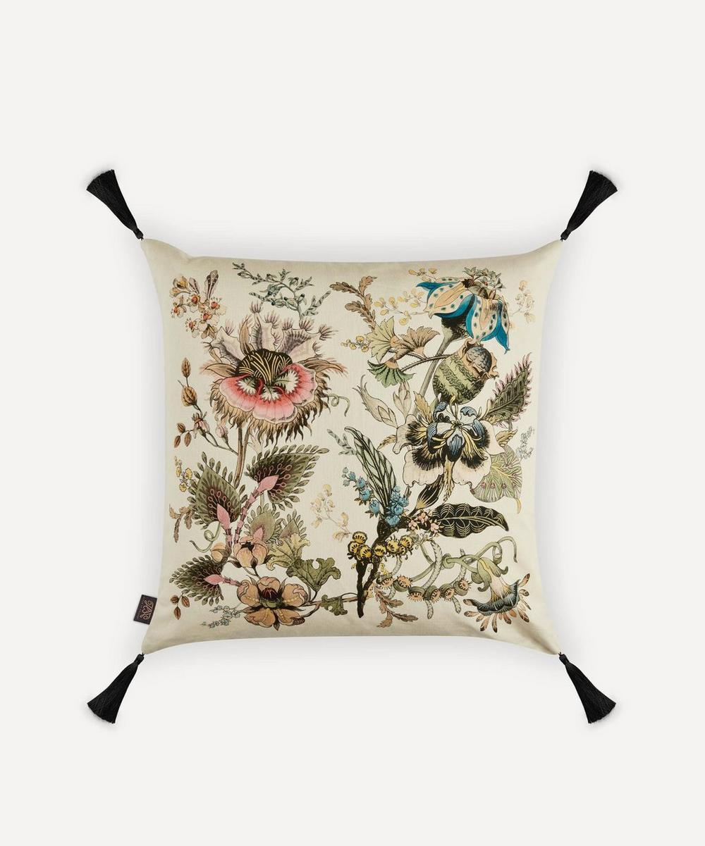 House of Hackney - Flora Fantasia Large Cotton-Linen Cushion