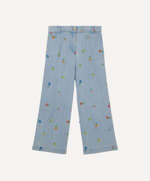 Floral Embroidered Denim Trousers 2-8 Years
