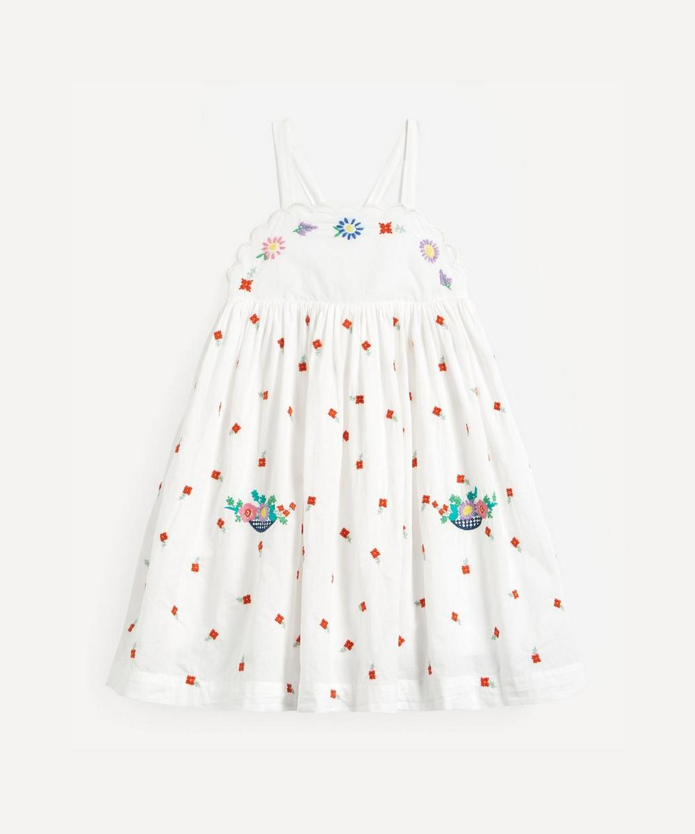 Stella McCartney Kids - Floral Embroidered Cotton Dress 2-8 Years