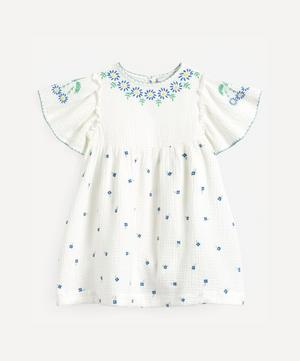 Floral Embroidered Gauze Dress 2-8 Years