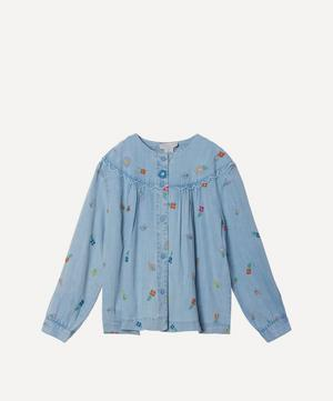 Floral Embroidered Denim Shirt 2-8 Years