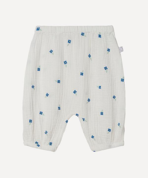 Stella McCartney Kids - Floral Embroidered Gauze Trousers 3 Months-3 Years