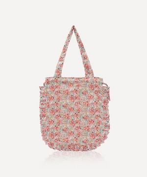 Swirling Petals Frilled Cotton Tote Bag