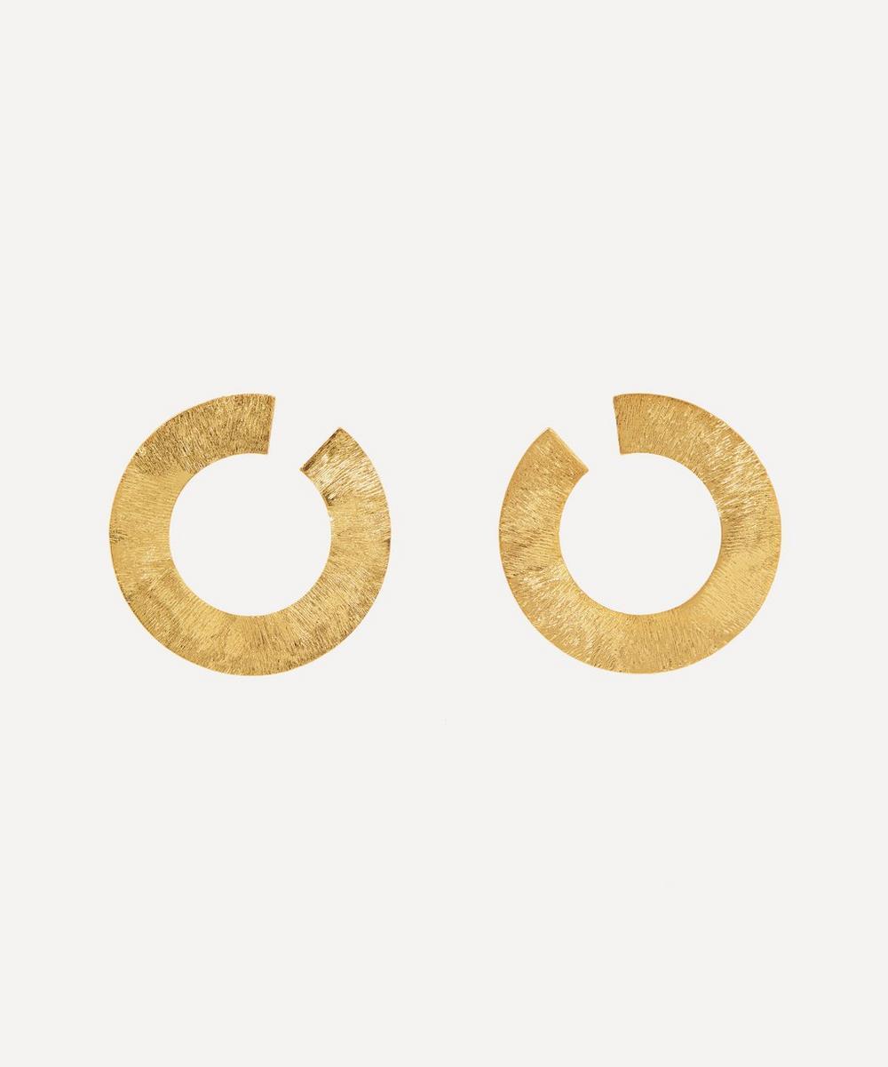 Anissa Kermiche - Gold-Plated Les Jumelles Hoop Earrings