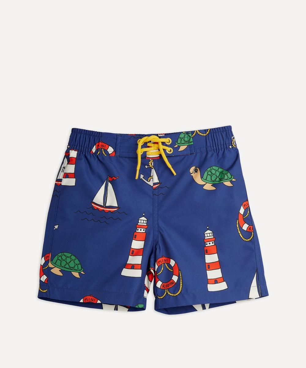 Mini Rodini - Turtle Float Swim Shorts 18 Months-8 Years