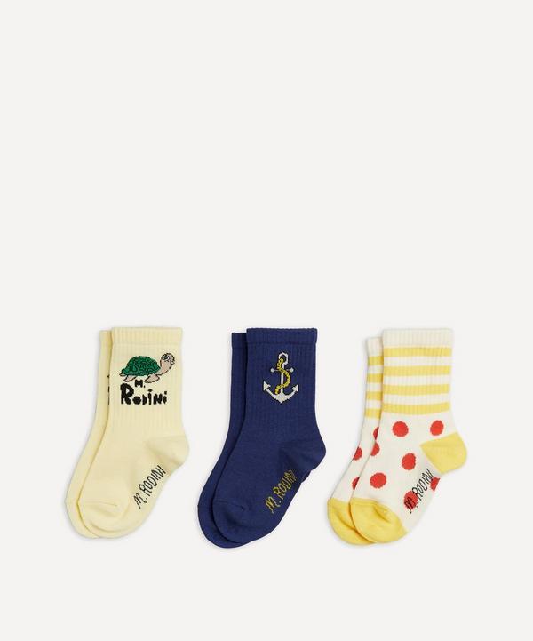 Mini Rodini - Anchor Socks Set of Three Size 20-23