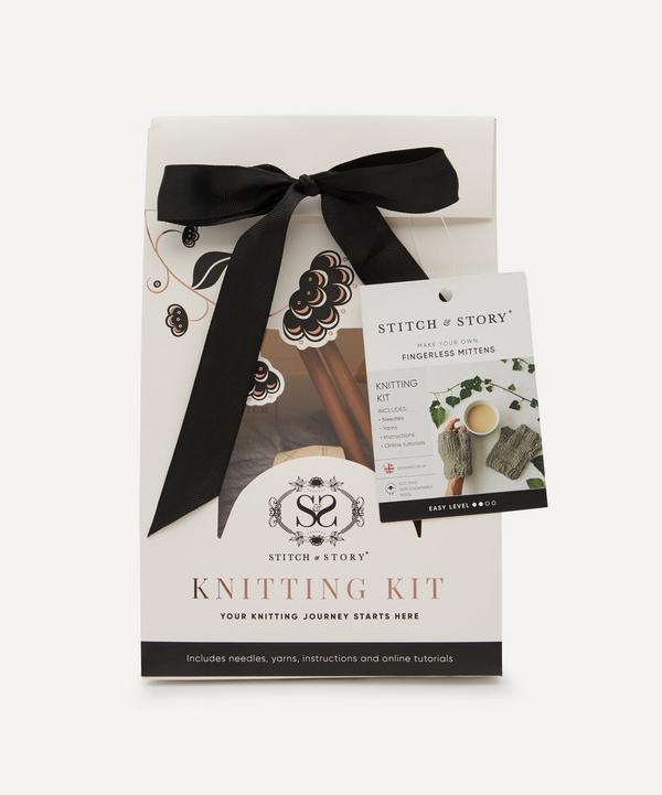 Stitch and Story - Fingerless Mittens Knitting Kit