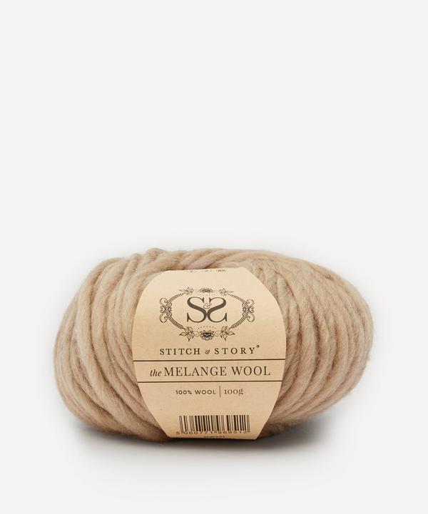 Stitch and Story - Melange Wool Yarn Pastel Beige