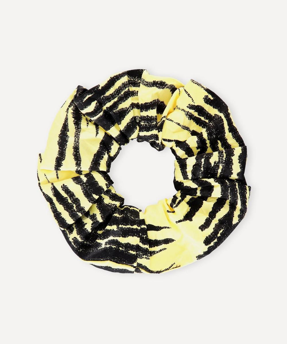 Ganni - Printed Crinkled Satin Scrunchie