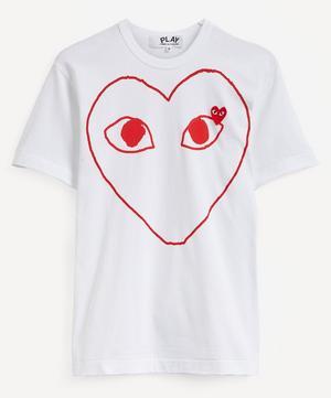 Red Heart Logo Patch Cotton T-Shirt