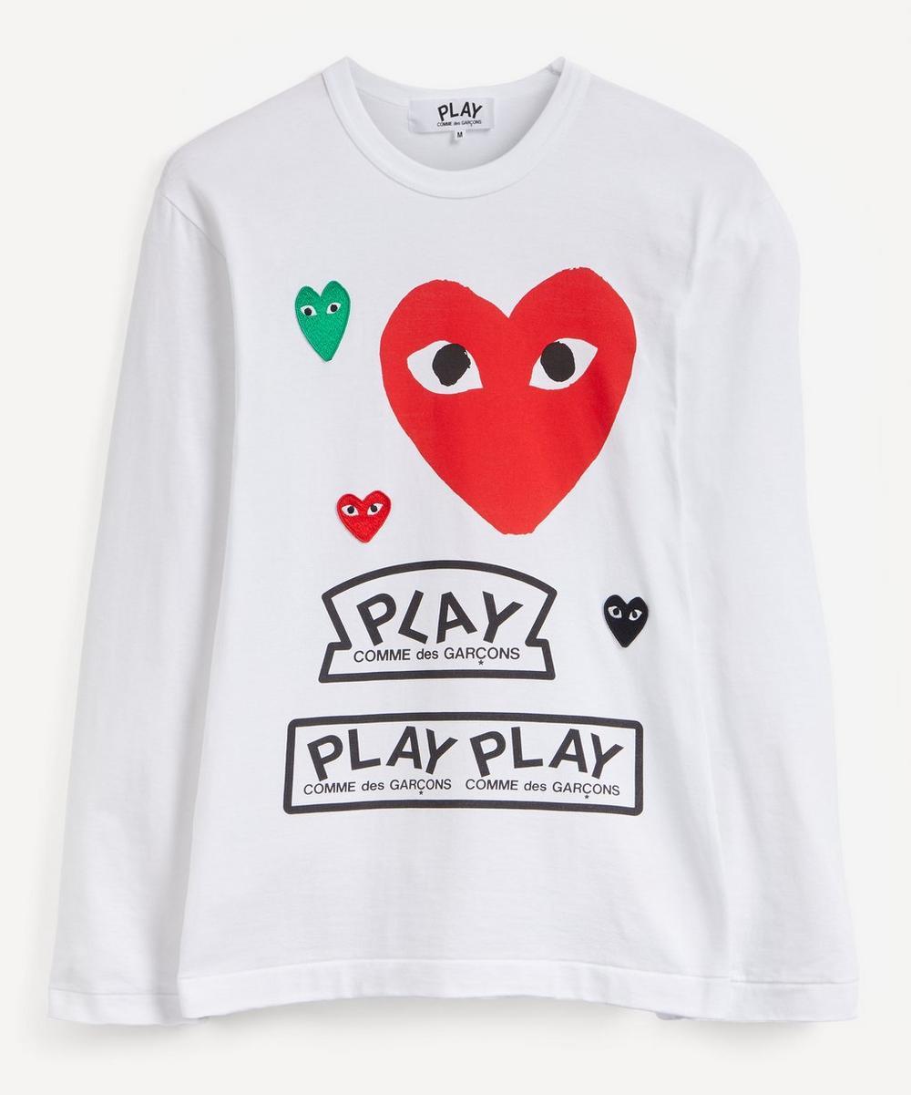 Comme des Garçons Play - Multi Heart Graphic Long-Sleeve T-Shirt