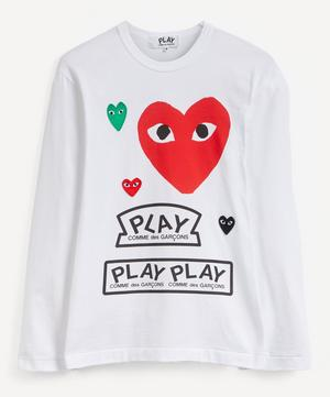 Multi Heart Graphic Long-Sleeve T-Shirt