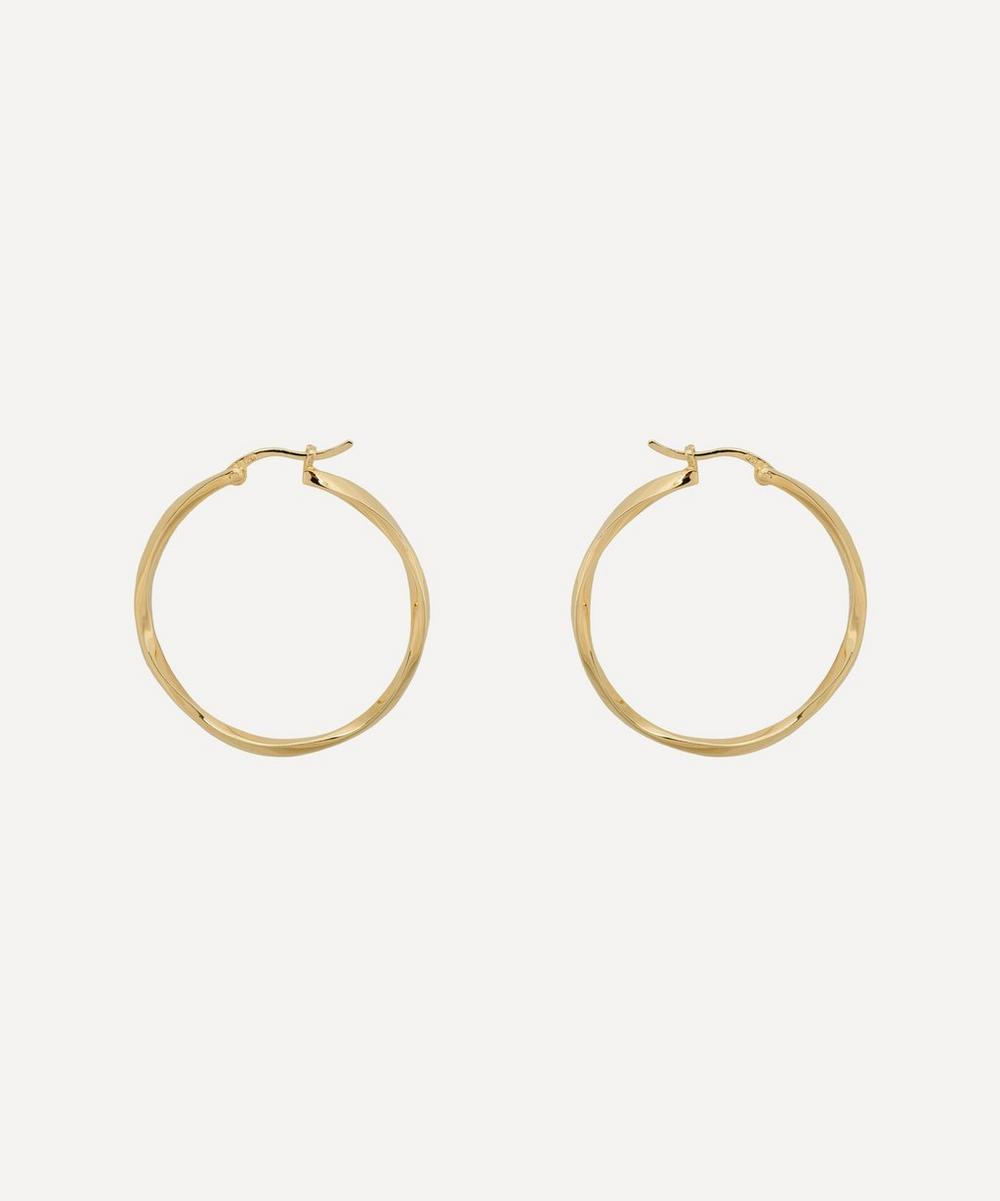 Anna + Nina - Gold-Plated Dazzling Hoop Earrings