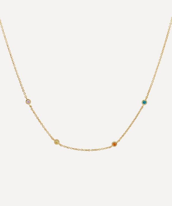Anna + Nina - Gold-Plated Confetti Zirconia Necklace