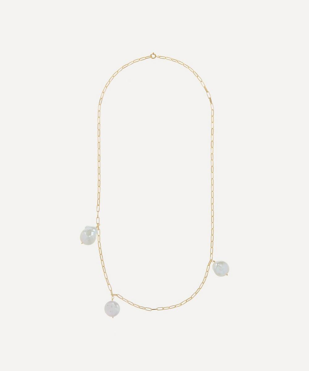 Anna + Nina - Gold-Plated Never Enough Pearls Necklace