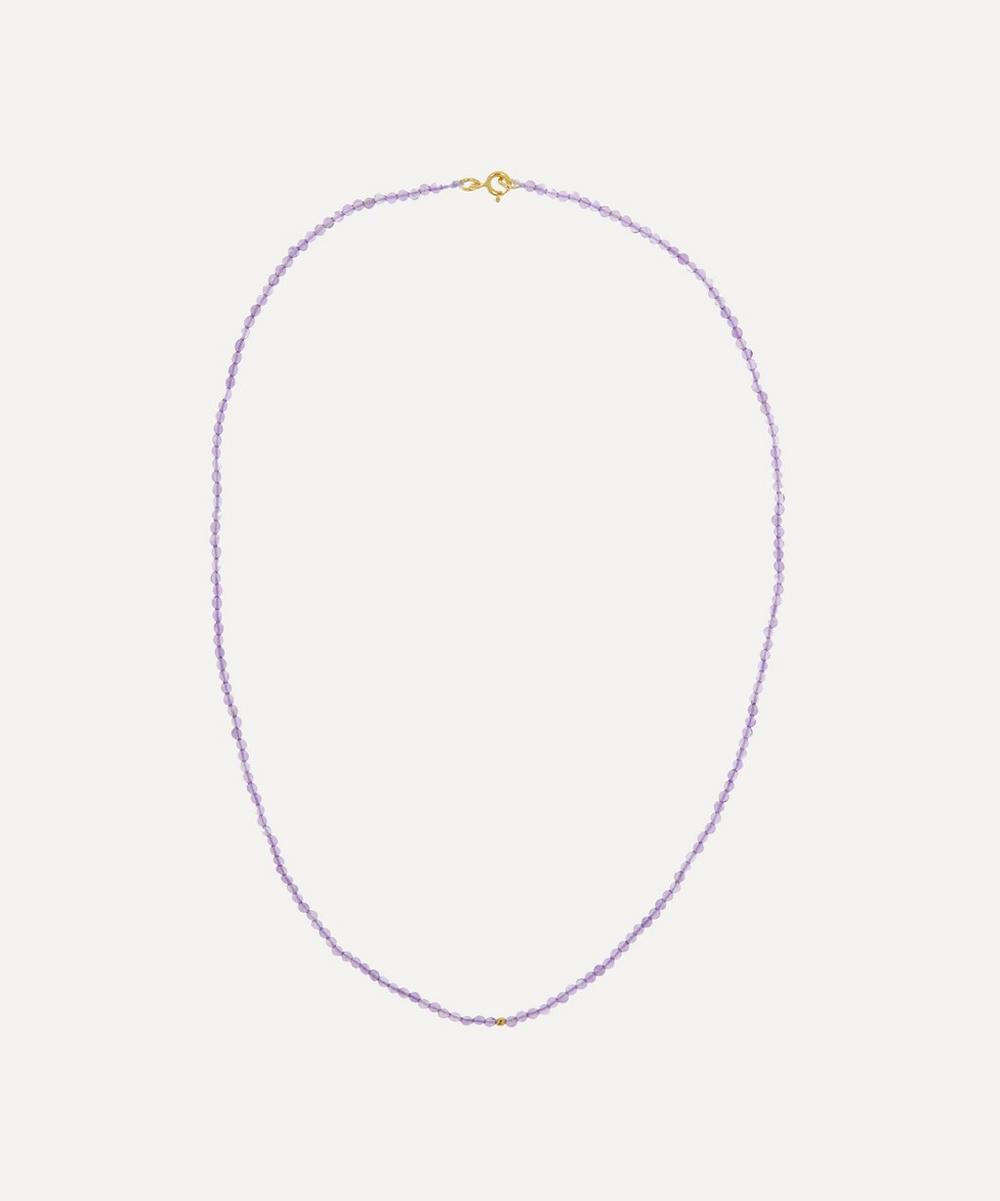 Anna + Nina - Gold-Plated Josephine Amethyst Beaded Necklace