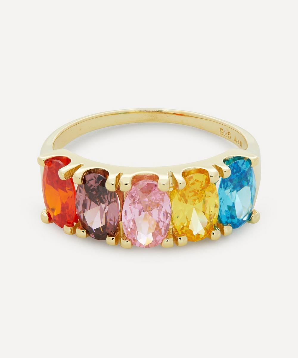 Anna + Nina - Gold-Plated Surreal Dreams Zirconia Ring