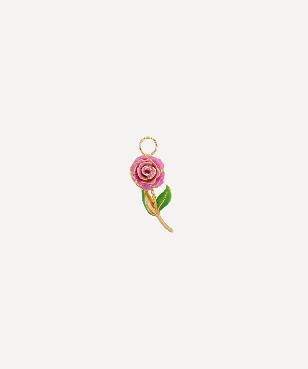 Anna + Nina - Gold-Plated Wild Rose Enamel Earring Charm