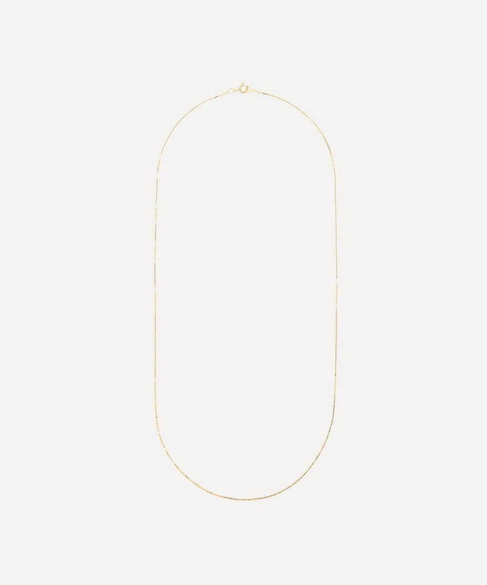 Anna + Nina - Gold-Plated Long Plain Square Chain Necklace
