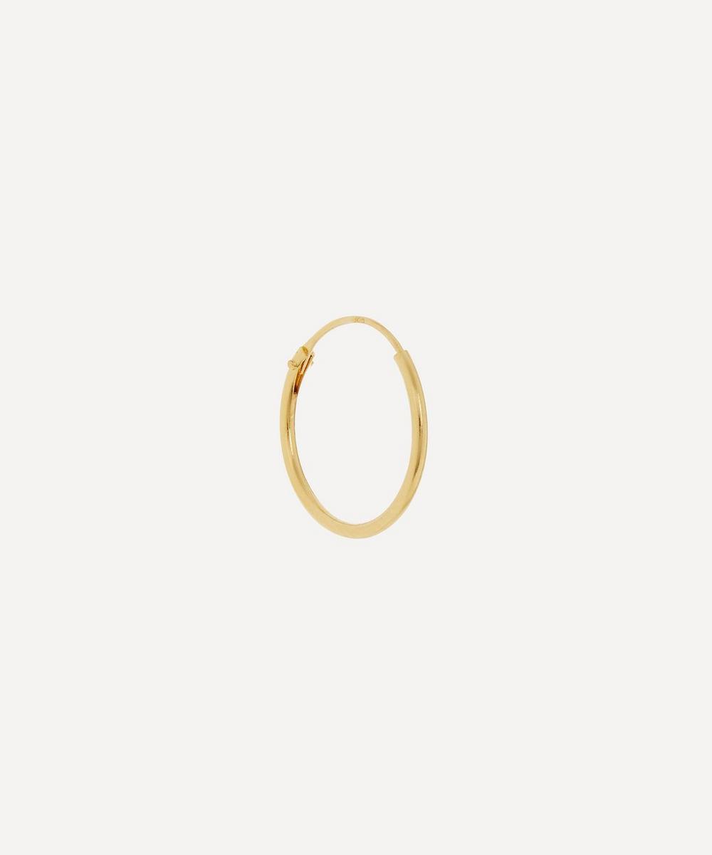 Anna + Nina - Gold-Plated Medium Plain Ring Single Hoop Earring