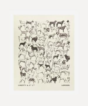 Unframed A Gathering of Dogs Archive Liberty Art Print