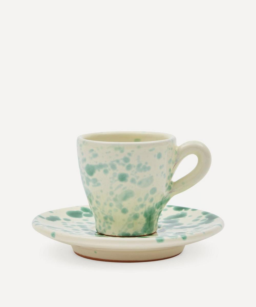 Hot Pottery - Espresso Cup and Saucer Set Pistachio