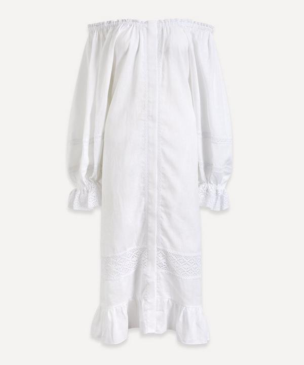 Sleeper - Paloma Off-Shoulder Linen Dress