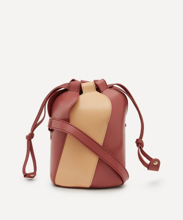 Chloé - Tulip Mini Bi-Colour Leather Bucket Bag