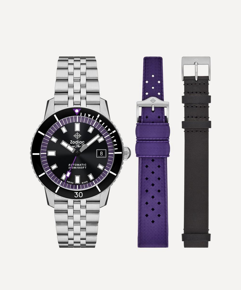 Zodiac X Liberty - Super Sea Wolf Stainless Steel 3-Strap Watch