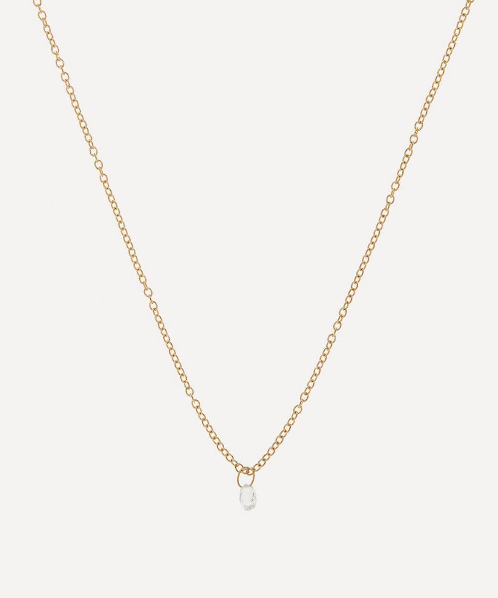 Satomi Kawakita - Gold Diamond Drop Pendant Necklace
